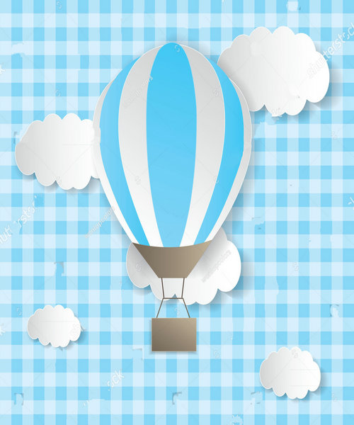baby cloud Hot Air Balloon background polyester or Vinyl cloth High quality Computer print wall backdrops