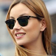 купить Luxury Sunglasses Women Brand Designer Cat Eye Sunglasses Unisex Sun Glasses For Women Vintage Round Ladies Sunglasses Mirror дешево