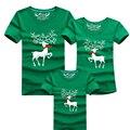 Family Look Nuevo 2016 Ciervos navidad Mamá y Yo Juego de Ropa Ropa de La Familia Establece Madre Padre Hija Bebé T-Shirt