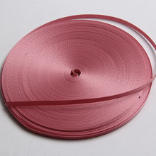 high quality nylon ribbon 7mm pink color 1/4 inch grosgrain bia