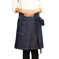 Cozinhando o Avental de cozinha Acessórios Tipo Split Meio Avental de Cintura Aventais de Cozinha Restaurante Do Hotel Workwear Dos Homens Das Mulheres