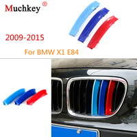 Auto Grille Trim Strips Grills Cover Prestaties Interieurstickers Voor BMW X1 E84 2009 om 2015 3D M Styling 7 Roosters|Auto Stickers|Auto´s & Motoren -