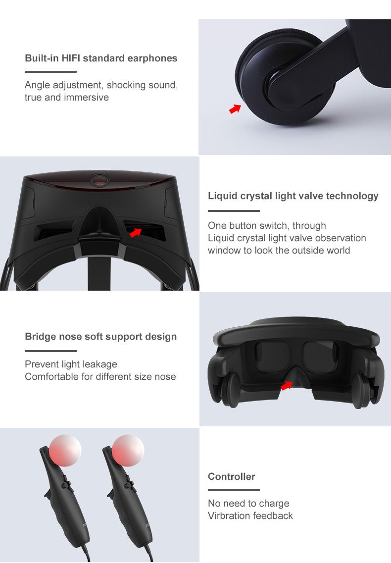 ANTVR 17 New Virtual Reality Glasses Headset for PC Virtual pc Glasses Binocular 110 FOV 2160*10P VR box Immersive 3D VR 10