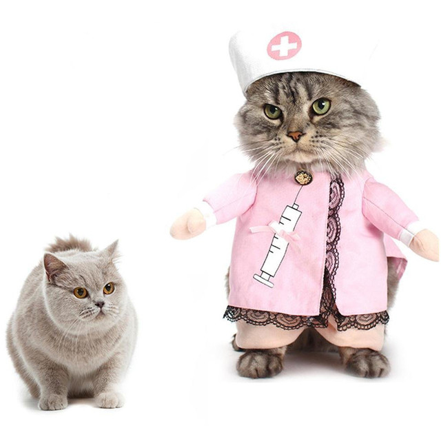Gomaomi Nurse Design Pet Dog Costume Dog Clothes Cat Funny Apperal