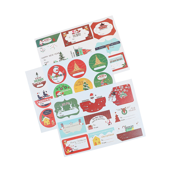 aliexpress com buy 90pcs 120pcs christmas self adhesive gift tag