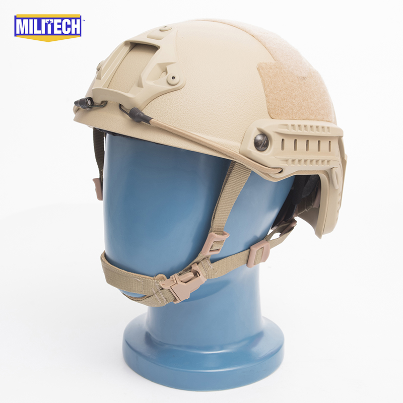 MILITECH FAST Tan FA Style Super ABS Airsoft Tactical Helmet Ops Core Style High Cut Training Helmet FAST Ballistic Style Helmet fast aor2 pj carbon style vented airsoft tactical helmet ops core style high cut training helmet fast ballistic style helmet