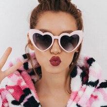 MuseLife 2019 New Fashion Love Heart Sunglasses Women cute sexy retro Cat Eye Vi