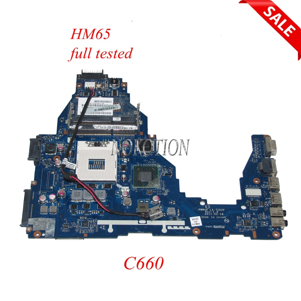 NOKOTION K000124370 PWWHA LA-7202P Laptop Motherboard For Toshiba Satellite C660 HM65 DDR3 GMA HD3000 Main Board full testedNOKOTION K000124370 PWWHA LA-7202P Laptop Motherboard For Toshiba Satellite C660 HM65 DDR3 GMA HD3000 Main Board full tested