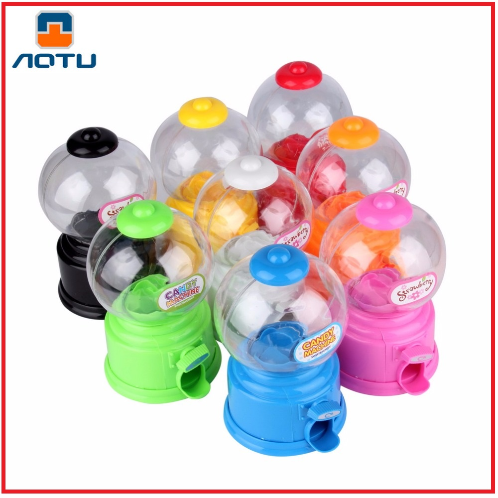 AOTU Cute Sweets Mini Candy Machine Bubble Gumball Dispenser Coin Bank Kids Toy Worldwide sale Money Saving Box Baby Gift Toys