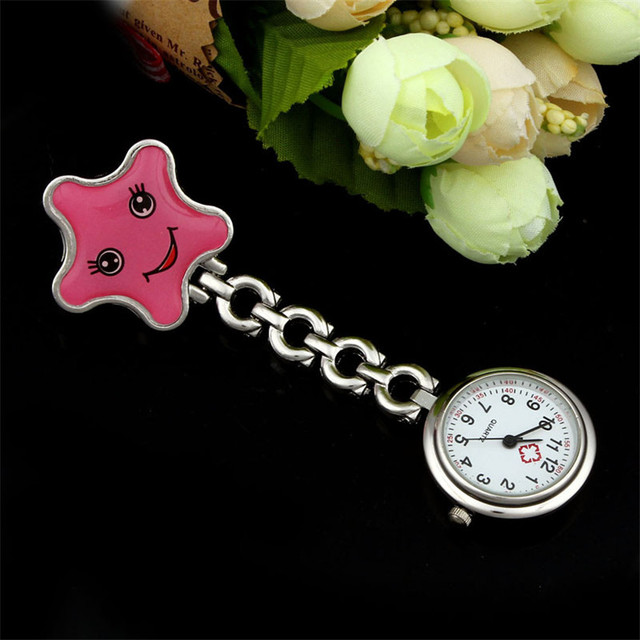 Perfect  Gift    Nurse Clip-on Fob Brooch Pendant Hanging watch Star Pocket Watch New Levert Dropship  Sep13