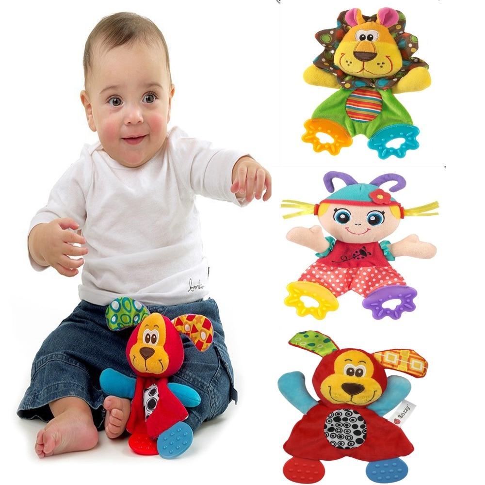 0+ baby leketøy myk løve hunden pike plysj dukke baby rotter krybbe - Baby og småbarn leker