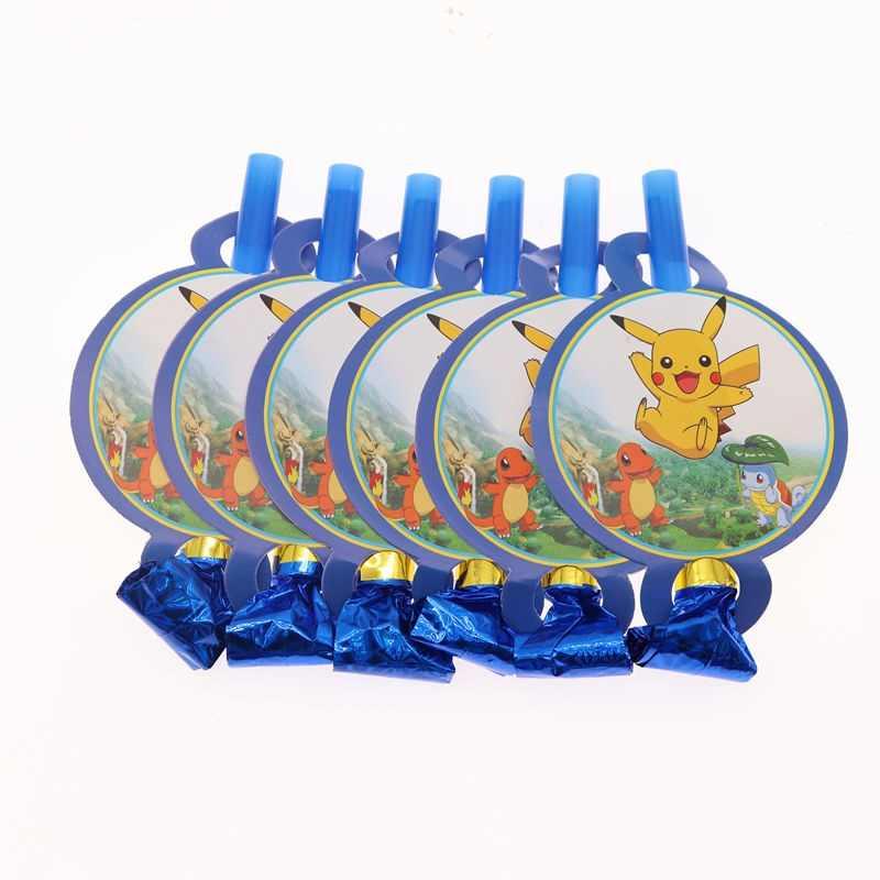 ポケモンテーマピカチュウパーティー装飾誕生日パーティー用品装飾紙皿マスクベビーシャワー用品食器セット