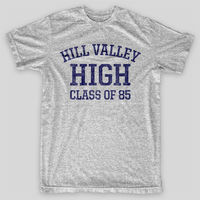 HILL VALLEY HIGH Back To Future BTTF Flux VINTAGE LOOK AMERICAN APPAREL T Shirt Men T
