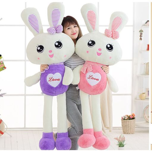 stuffed toy huge 150cm love scarf rabbit plush toy pink rabbit soft doll hugging pillow Christmas gift s2903 90cm large size soft hugging rabbit plush toy stuffed animal bunny rabbit pillow plush soft placating toys for children