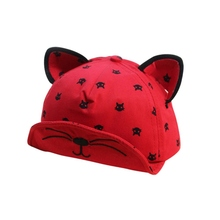 Baby Boys Girls Summer Cute Ears Beard Stars Cat Print Hat Newborns Cap Kids Baseball Hats Boy Girl Sun Caps