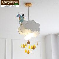 Qiseyuncai скандинавский минималистичный своевременное дождевое облако детская люстра креативная спальня мальчика Девочки Детская комната