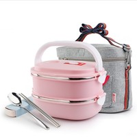1 3 Layers 304 Stainless Steel Japanese Lunch Boxs With Compartments Microwave Bento Box For Kids