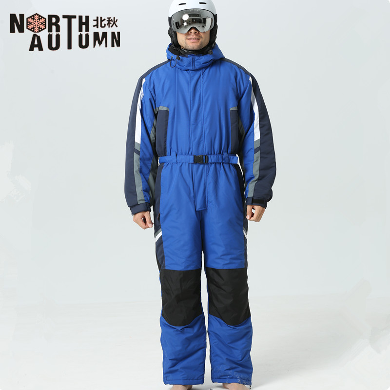 Winter Suit Men Ski Jumpsuit Ski Suits Men Snowboarding Suits Men Outdoor Sport Suit Mens Ski Jacket Men One-piece Snowsuit Warm