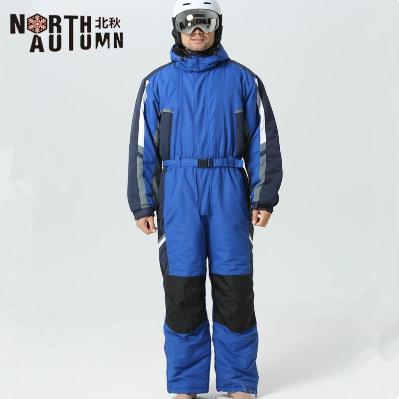 Winter Suit Men Ski Jumpsuit Ski Suits Men Snowboarding Suits Men Outdoor Sport Suit Mens Ski Jacket Men One-piece Snowsuit Warm