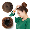 Paidian New Hair Bun Clip In Hair Pieces Chignon Hairpiece Donut Roller Hairpieces Postiche Chignon Bun Clip In With Drawstring