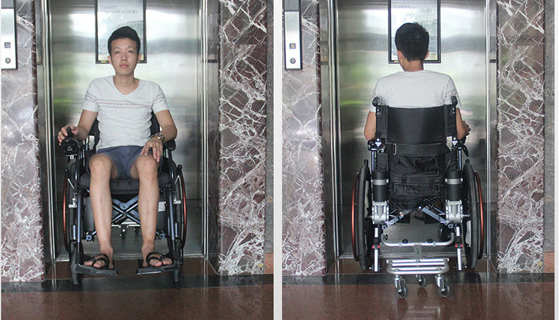 New product lightweight power electric wheelchair with 320W motor 6