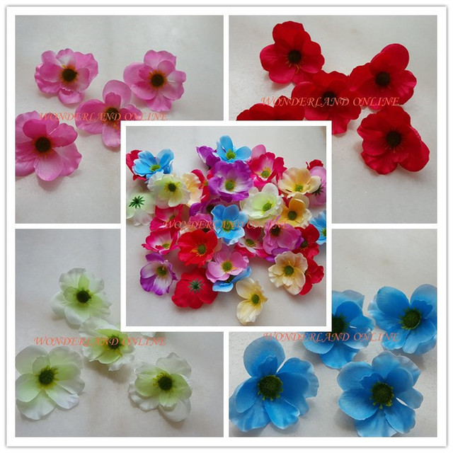 7colors 7cm27 artificial silk poppy flower heads for wedding 7cm27 artificial silk poppy flower heads for wedding decoration hairpin wreath mightylinksfo