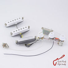 1 Set GuitarFamily Wiring Harness SSH Electric Guitar Pickup  White ( #0008 )