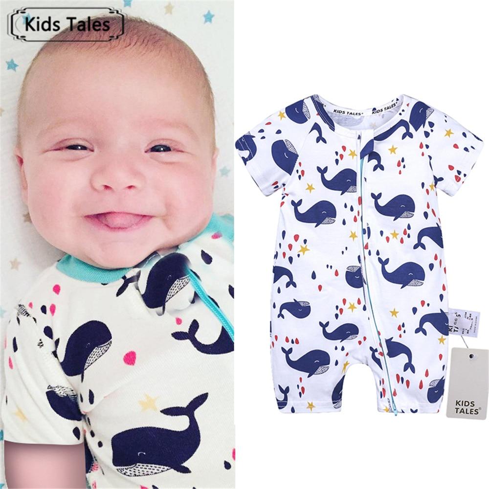2018 Summer Short Sleeve Rompers Children's Overalls Cotton Clothes for Newborn Girls Roupa De Bebe Clothes for Little BoysSR334