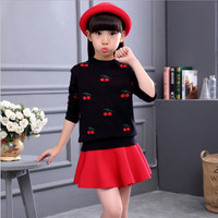 Baby Girl Clothes Autumn Winter 2017 Pullover Sweaters For Girls Plus Thick Children Kids Costume Free
