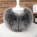 Real Fox Fur Scarf Headband Scarves Neck Warmer natural fox fur  Wrap Cape Shawl Poncho snood