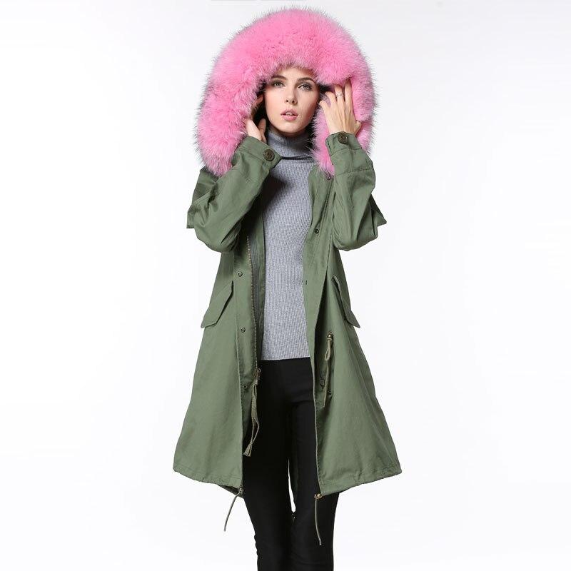 Aliexpress.com : Buy Hot sale Raccoon fur collar Spring jacket and ...