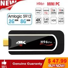 H96 pro Mini PC Android Tv Box 7.1 Kodi Mini Box 2gb ram 16gb rom/8Gb Rom Amlogic S912 64bit Octa-core Mini PC Box Media Player