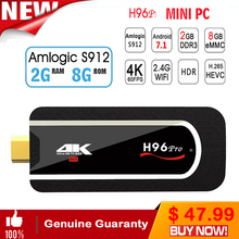 H96 pro Mini PC Android Tv Box 7.1 Kodi Mini Box 2gb ram 16gb rom/8Gb Rom Amlogic S912 64bit Octa-core Mini PC Box Media Player