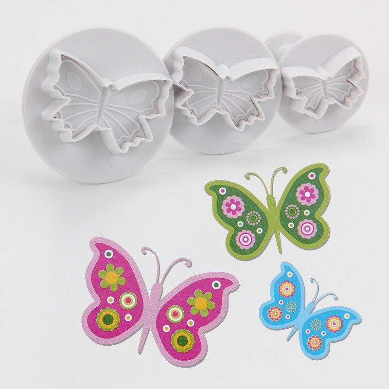 ᐂLa alta calidad libre del envío FDA plástico 3 unids mariposa ...