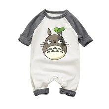 a833c7074ef1 Conjunto de ropa de mono de algodón Newbron infantil de manga larga Totoro de  Otoño de dibujos animados para niños y niñas