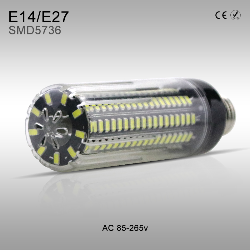 High lumen Light LED Bulb Corn Lamp 28 40 72 108 132 156 189leds E27 No Flicker SMD5736 AC85-265V 3.5W 5W 7W 9W 12W 15W 20W E14