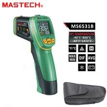 MASTECH MS6531B ручной Бесконтактный инфракрасный термометр точечный температурный пистолет измерительный инструмент