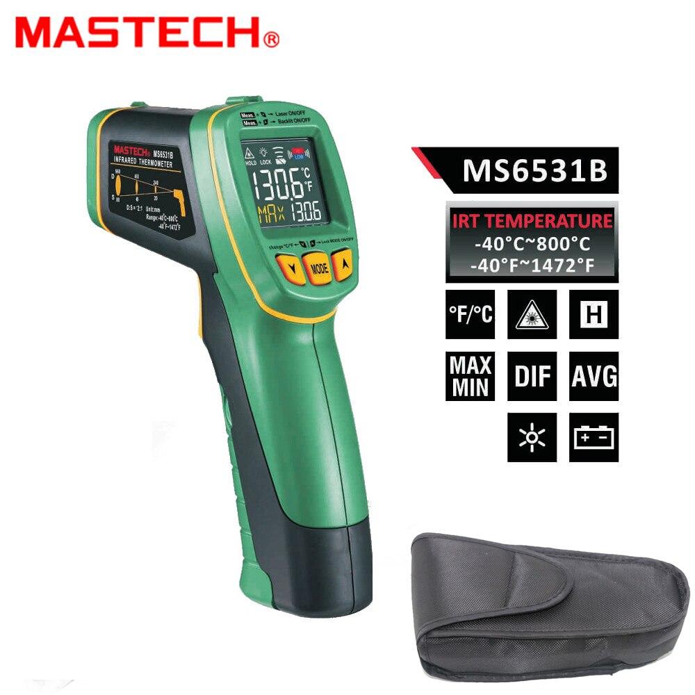 MASTECH MS6531B Palmare Senza contatto Termometro A Infrarossi Point Pistola Temperatura Strumento di Misura