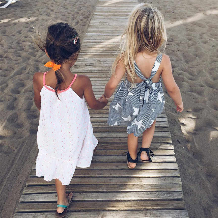 CHAMSGEND 2019 Girls Summer Dresses Baby Girls Summer Girls Sleeveless Beach Summer Dress Star Evening Dress Tarja Dec 27