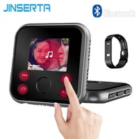JINSERTA Mini Bluetooth MP3 Player 16G 32G Sport MP3 Music Player 1.8 Screen with Recorder FM Radio Alarm Clock Support TF