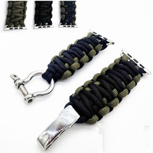 Nouveau Survie En Plein Air pour apple Bracelet Bracelet Militaire Qualité Nylon 38mm 42mm Montre Bracelet Montre Accessoires Livraison Gratuite