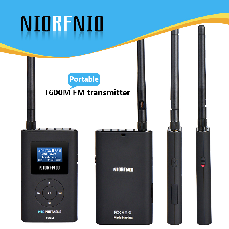 Free Shipping NIO-T600M 0.6W Portable FM Radio Broadcast Transmitter for Personal Use niorfnio portable 0 6w fm transmitter mp3 broadcast radio transmitter for car meeting tour guide y4409b