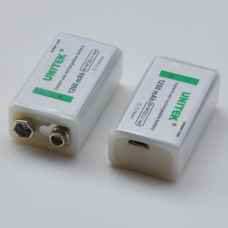 1-4PCS USB <font><b>9V</b></font> Rechargeable Li-ion Battery <font><b>1200mAh</b></font> 6F22 lithium ion cell for wireless microphone Guitar EQ smoke alarm multimeter image