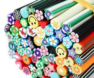 Hot sale 700canes/lot polymer clay nail art cane for nail art fruit canes and flower nail art cane+DHL/EMS Free shipping
