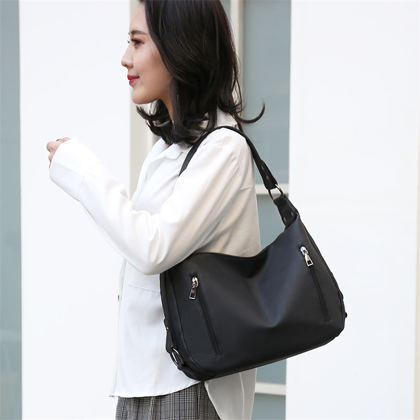 Fashion Hobos Ladies Hand Bags Luxury Handbags Women Shoulder Bag Designer Big Tote Leather Hobo Crossbody Bags for Women 2019 in Top Handle Bags from Luggage Bags