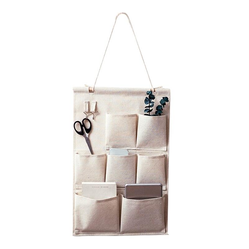 Colgar bolsas de almacenamiento organizador algodón de lino armario ...