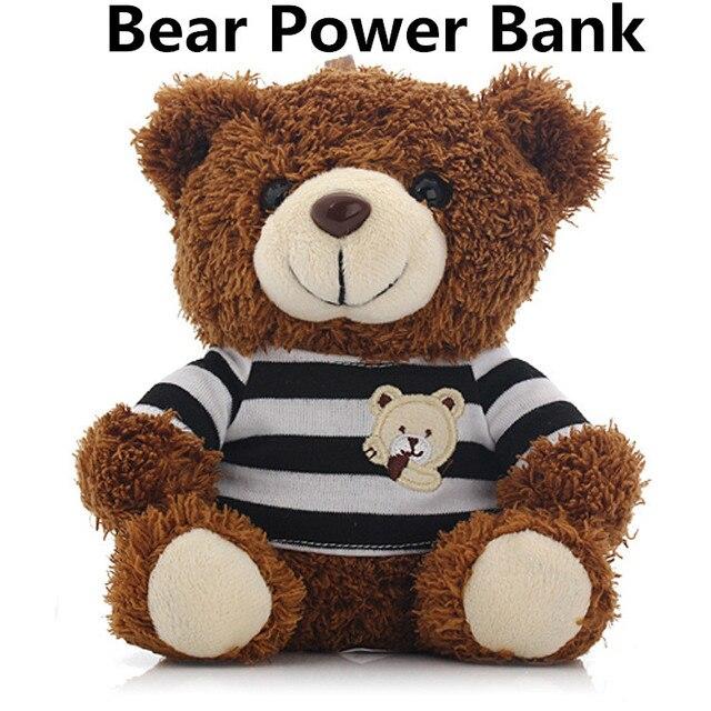 10000 мАч Новый Дизайн Люксовый Бренд Teddy Bear Power Bank Для Iphone 6 6 плюс 5S Внешнее Зарядное Устройство для Samsung HTC LG