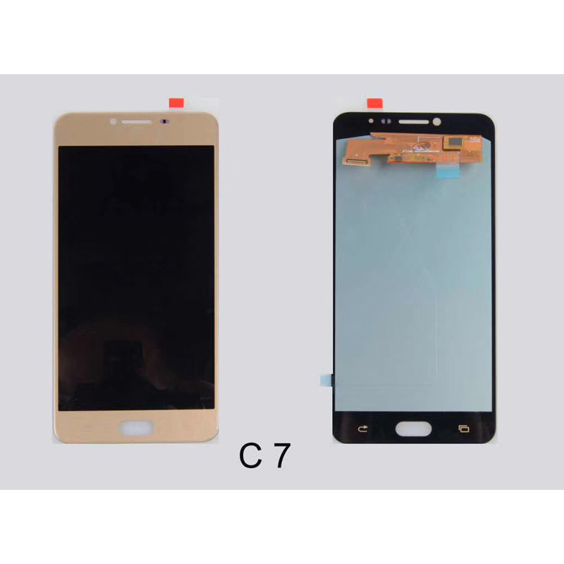 100% Super Amoled Für Samsung Galaxy C7 C700 C7000 LCD Display + Touch Screen Digitizer Montage kostenloser versand