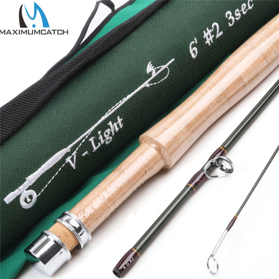 ФОТО Maximumcatch V-light Fly Fishing Rod 6FT 2WT 3SEC Fast Action With Cordura Tube Carbon Fly Rod