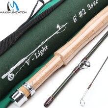 Maximumcatch V-light Fly Fishing Rod 6FT 2WT 3SEC Fast Action With Cordura Tube Carbon Fly Rod